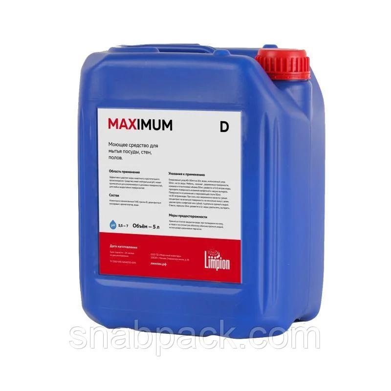Maximum D 5л. Универсальное моющее средство с дезинфицирующим эффектом