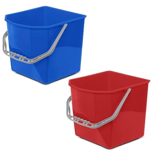 Ведро 25л для уборочных тележек (синее, красное) 1 шт